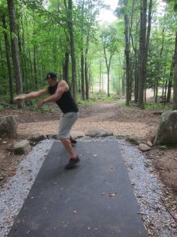 Avery Jenkins throws at Brewster Ridge